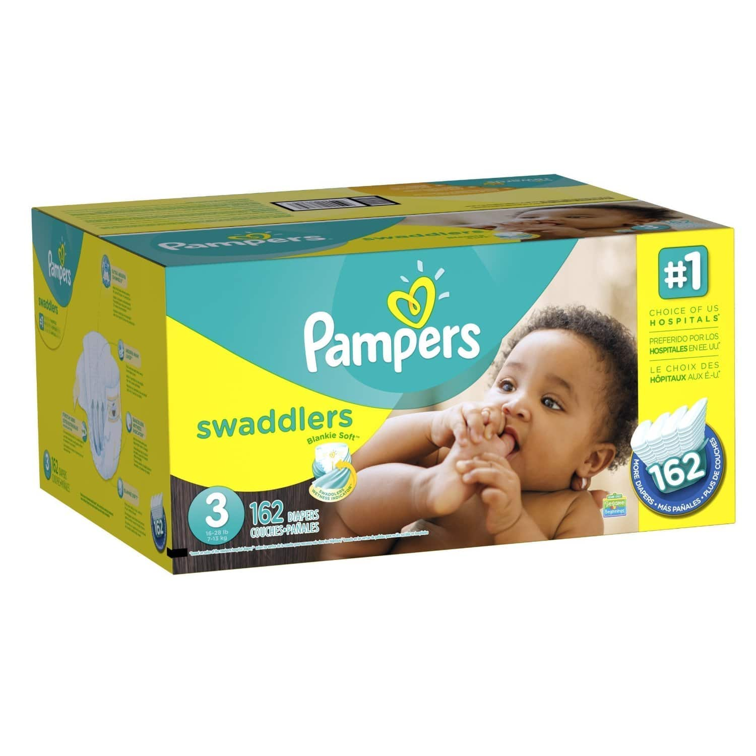 Amazon Family Members: Pampers Swaddlers & More  30% Off + 20% Off + Free Shipping