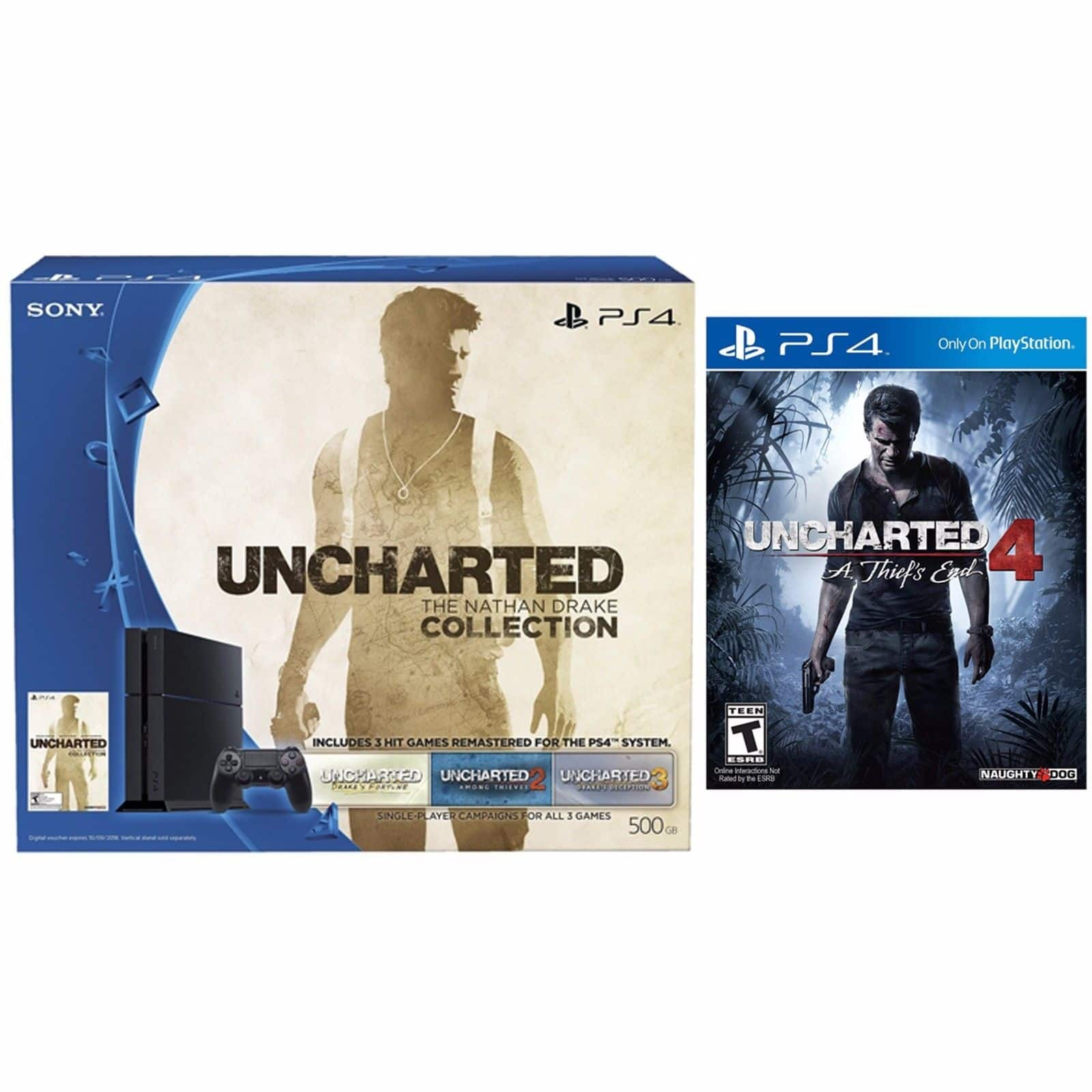 PlayStation 4 Uncharted Nathan Drake 500GB Bundle + Uncharted 4: A Thief's End for $350 + Free Shipping! (eBay Daily Deal)
