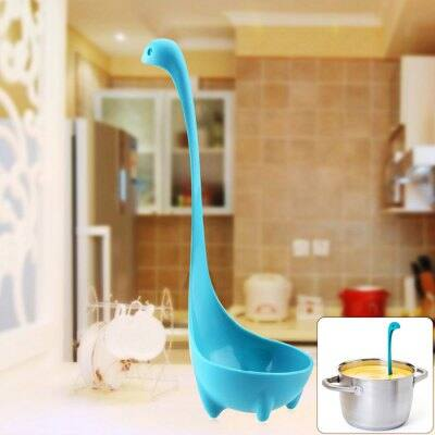 """Loch Ness Monster Soup Ladle $1.80ac shipped, even """"swims"""" in the pot! Scare your family"""