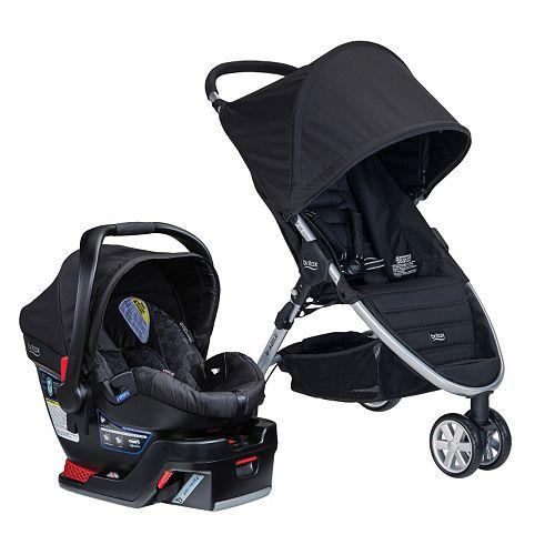 Britax B-Agile 3 & B-Safe 35 Travel System (infant car seat/Stroller)~Black/Red/Sandstone~FREE SHIPPING~$279.20 + $50 Kohls Cash
