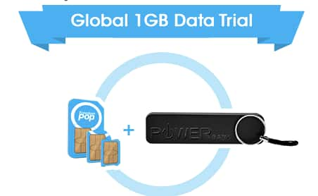 FreedomPop Global GSM 3-in-1 SIM Kit + 1GB Free Data Trial + Powerbank  $9 + Free Shipping