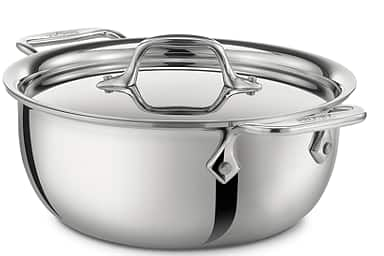 "All-Clad 10"" Tri-ply Stainless Steel Covered Fry Pan  $52.50 & Much More + Free S/H"