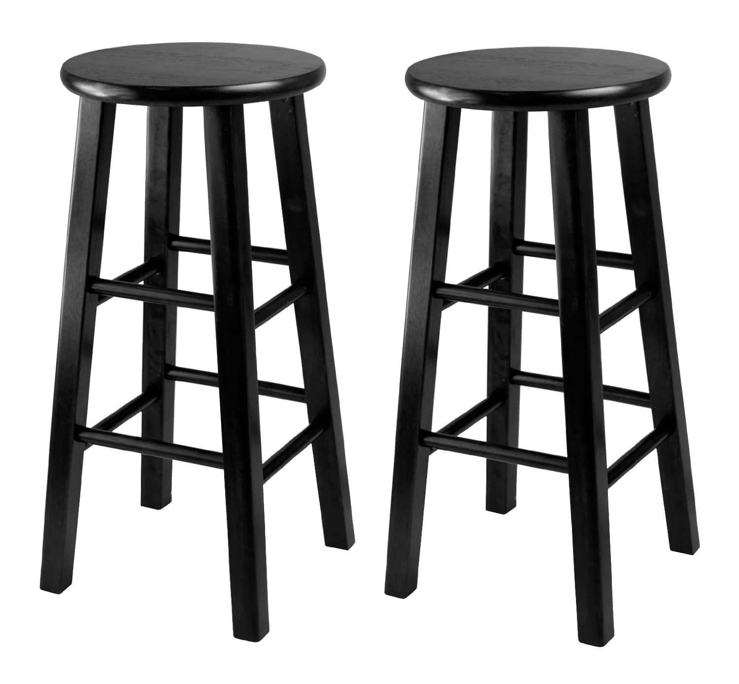"""2-Count 24"""" Winsome Square Leg Counter Stool (Black)  $29"""