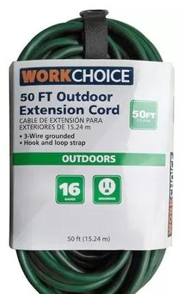 WorkChoice 50' 16/3 Outdoor Extension Cord @ Walmart $6.88