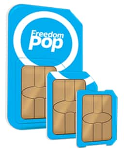 Freedompop Global GSM 3-in-1 SIM Kit + Free Mobile Phone Service Trial  $1 + Free Shipping
