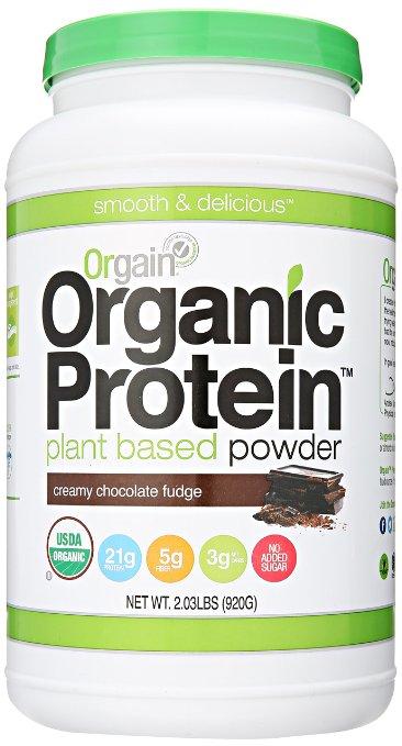 Orgain Organic Protein Plant-Based Powder, Creamy Chocolate Fudge, 2.03 Pound - $18.89 w/ 15% S&S