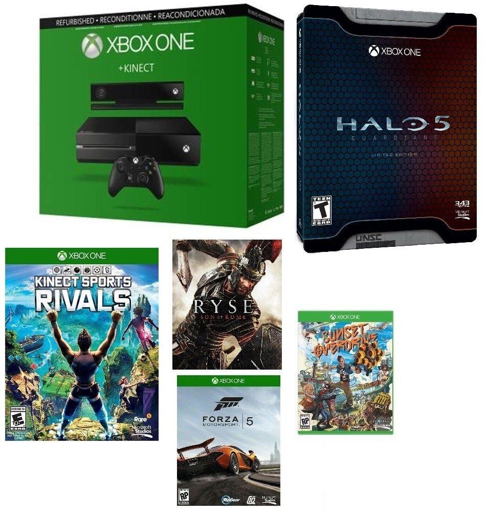 500GB Microsoft Xbox One Console w/ Kinect + 5 Games (Refurb)  $279 + Free Shipping