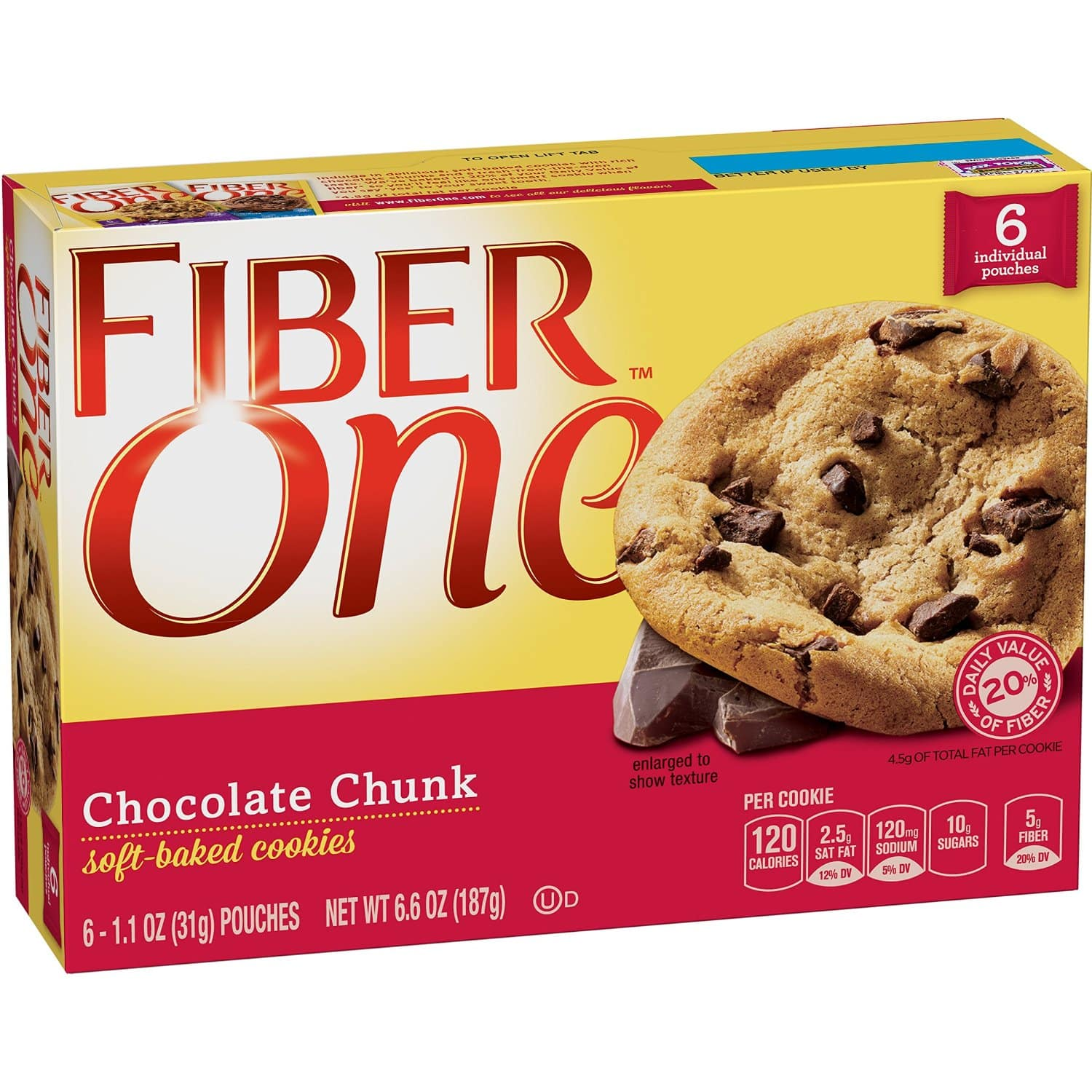 Prime Members: 6-Ct Fiber One Soft Chocolate Chunk Bars  $2.30 & More + Free Shipping