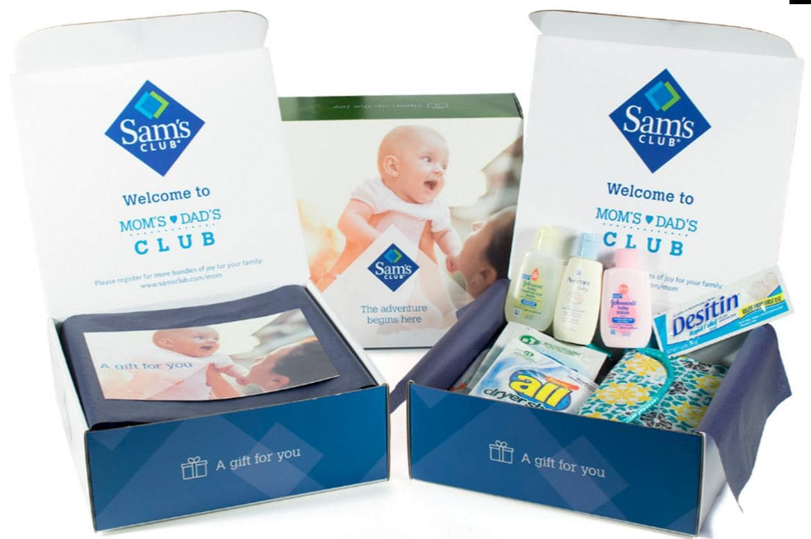 Free Sam's Club Baby Box of Samples (Don't Need To Be a Member)