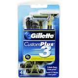 4-Count Gillette Customplus 3 Sensitive Men's Disposable Razor $3.39 or less + Free Shipping