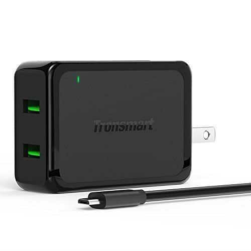 Tronsmart Dual USB Quickcharge 2.0 Wall Charger - $8.99 + Free Shipping w/ Prime @ Amazon