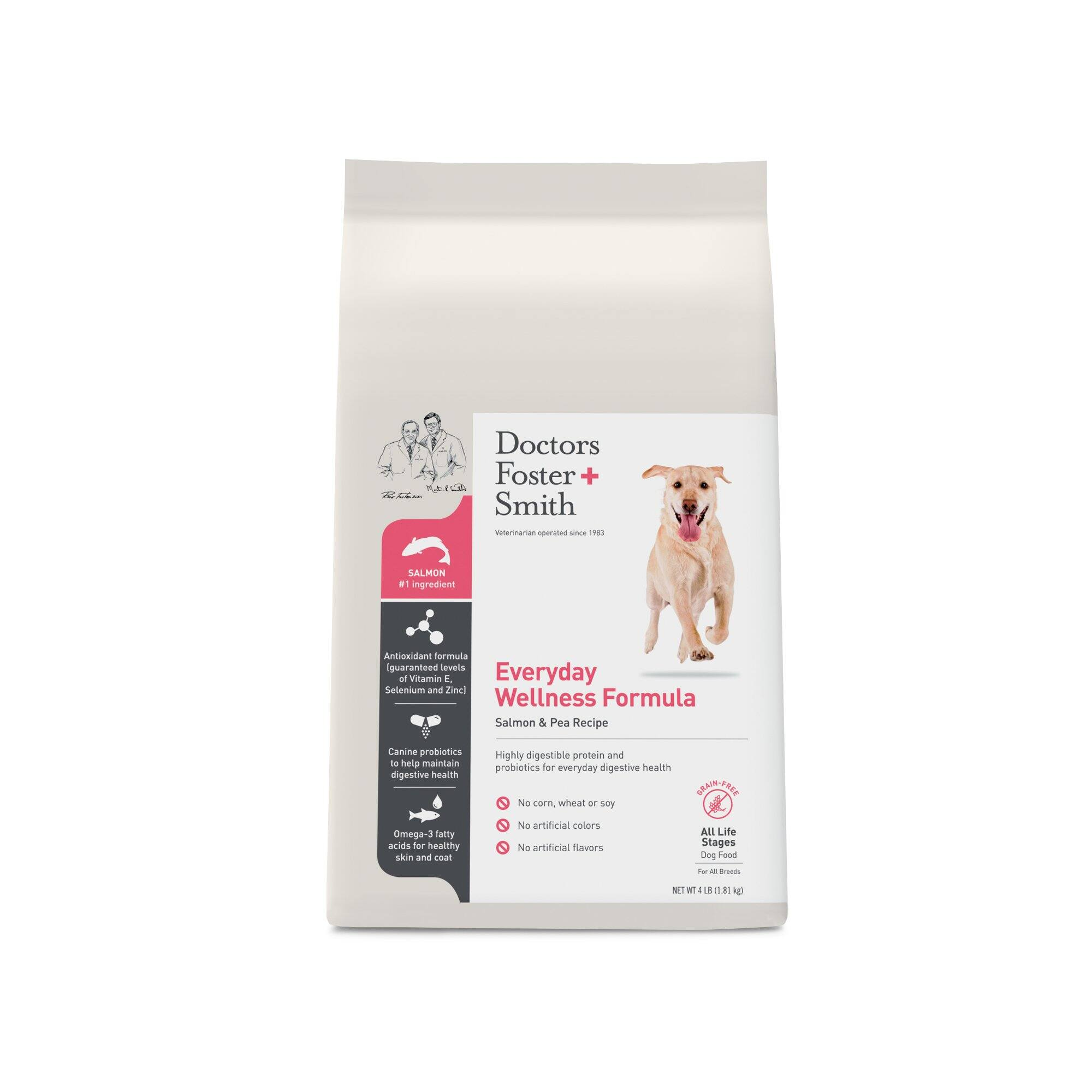 4lb Doctors Foster + Smith Grain Free Everyday Wellness Dog Food (Various) $1.99 Shipped