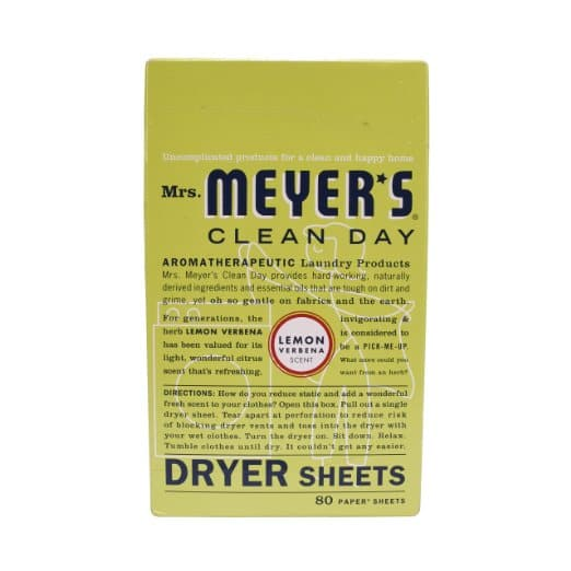 80 Count Package of Mrs. Meyer's Clean Day Dryer Sheets in Lemon Verbena - $3.57 AC & S&S ($3.09 AC & 5 S&S Orders) + Free Shipping - Amazon