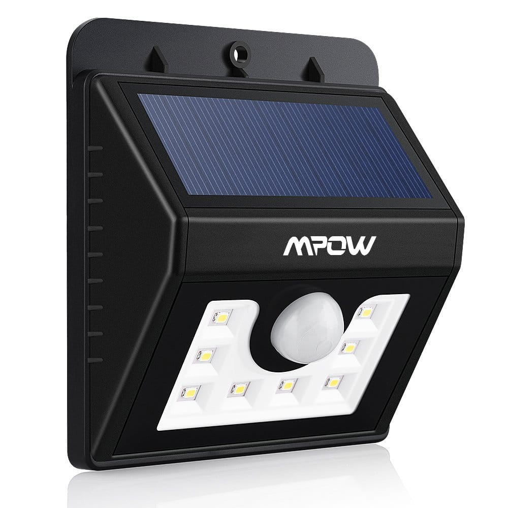 Mpow 8-LED Solar Powered Wireless Security Light: 3 for $31.50, 2 for $21.50, 1 for  $11