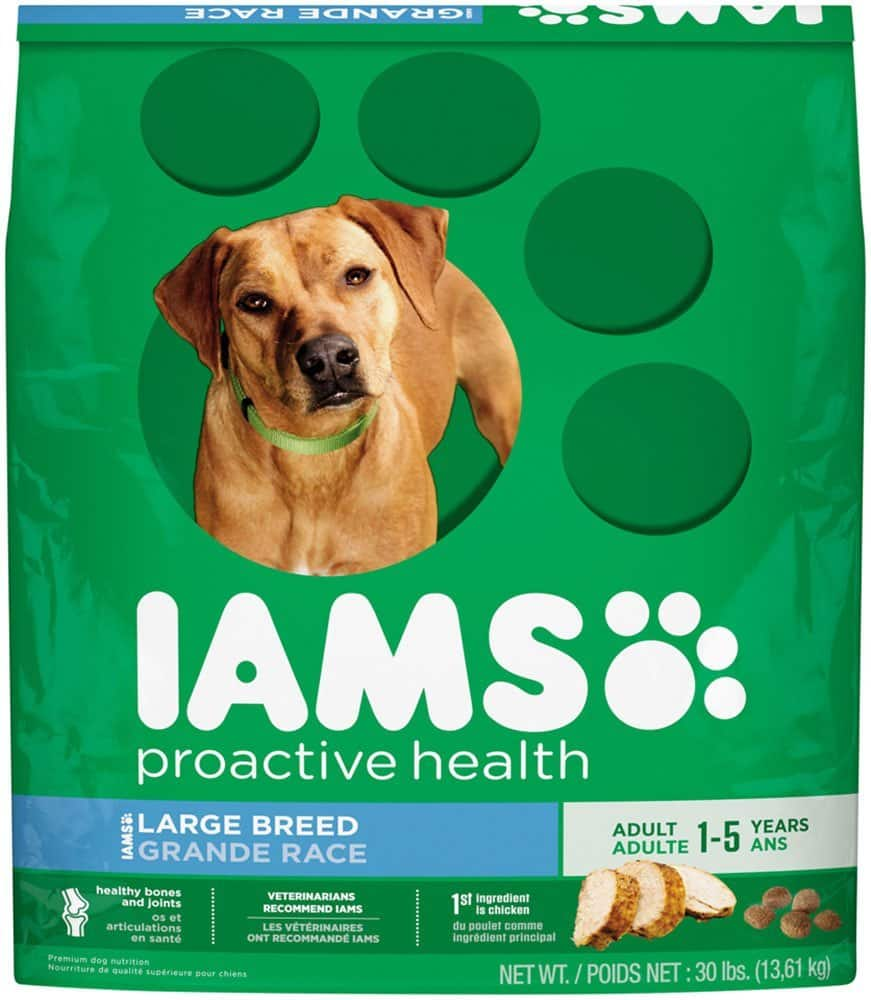30-lb Iams Proactive Health Adult Large Breed Dry Dog Food  $18 + Free Shipping