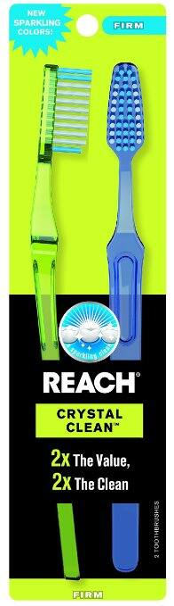 2-Ct Reach Crystal Clean Value Pack Adult Toothbrushes (Firm) - $1.33 Free Shipping Amazon S&S