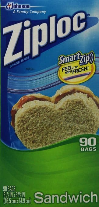 Prime Members:  3-Pack of 90-Count Ziploc Sandwich Bags  $5.18 + Free Shipping