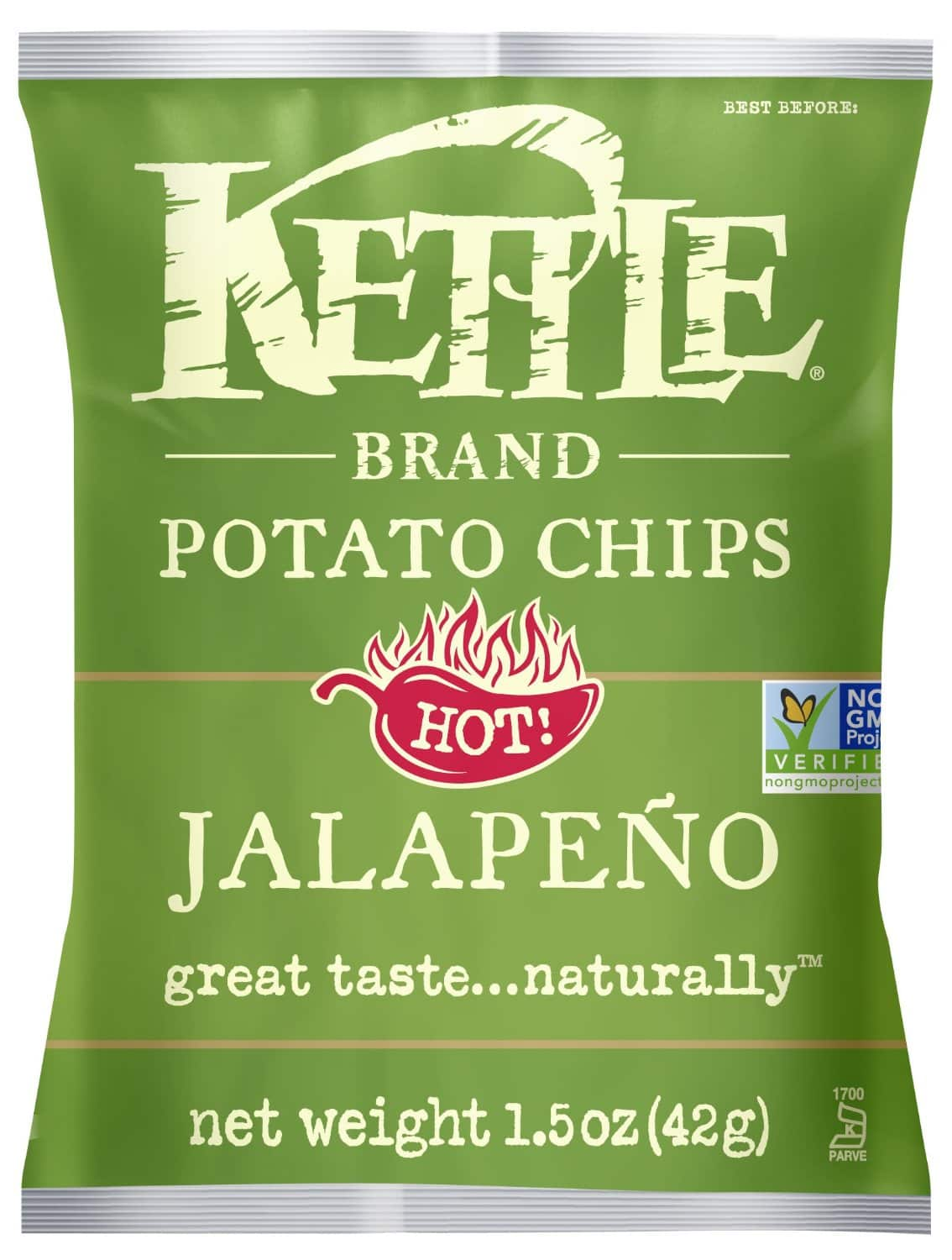 Prime Members: 24-Count 1.5oz Kettle Brand Potato Chips (Jalapeno)  $10.95 + Free Shipping