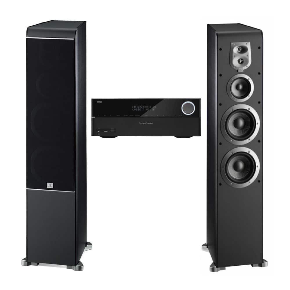 JBL ES80BK Floorstanding Speakers + Harman Kardon AVR 3700 Receiver  $499 & More + Free Shipping
