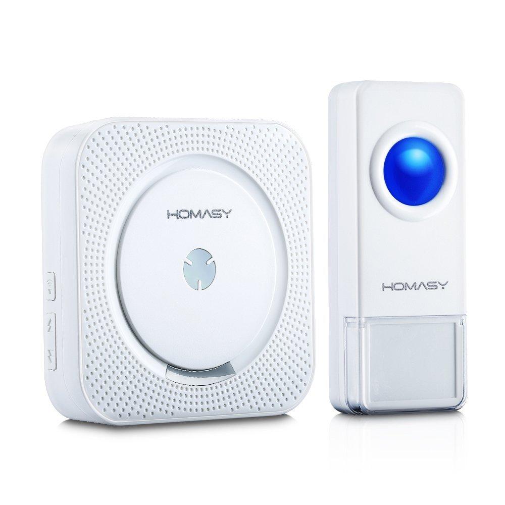 Homasy 1000ft Wireless Doorbell w/ 52 Chimes & Waterproof Transmitter  $11