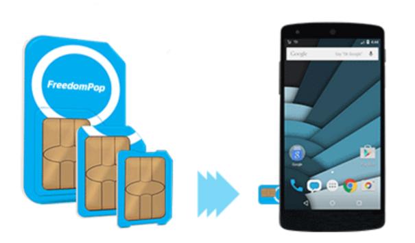FreedomPop Global GSM 3-in-1 SIM Kit + 1GB Free Data Trial + Powerbank  $1 & More + Free Shipping