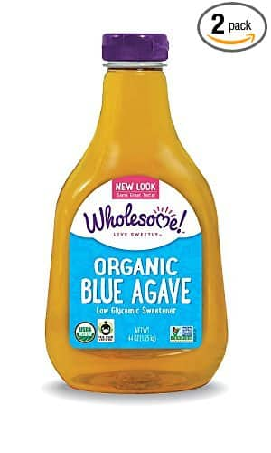 2 Pack of 44-Ounce Bottles of Wholesome Sweeteners Organic Blue Agave (88 ounces total) - $10.08 AC & S&S ($8.25 AC & 5 S&S Orders) + Free Shipping - Amazon