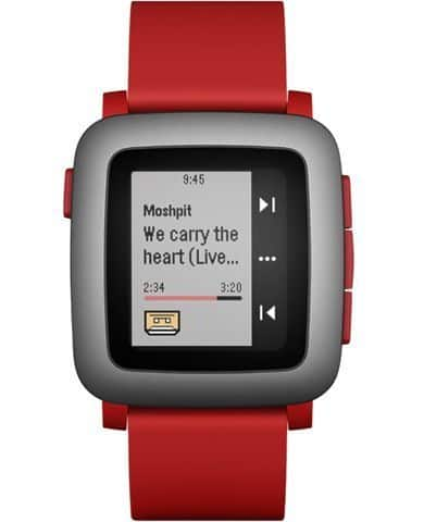 Pebble Time Smartwatch (Red)  $70 + Free Shipping