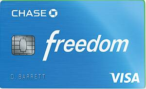 Chase Freedom Credit Card:  Wholesale Club Purchases  5% Cash Back