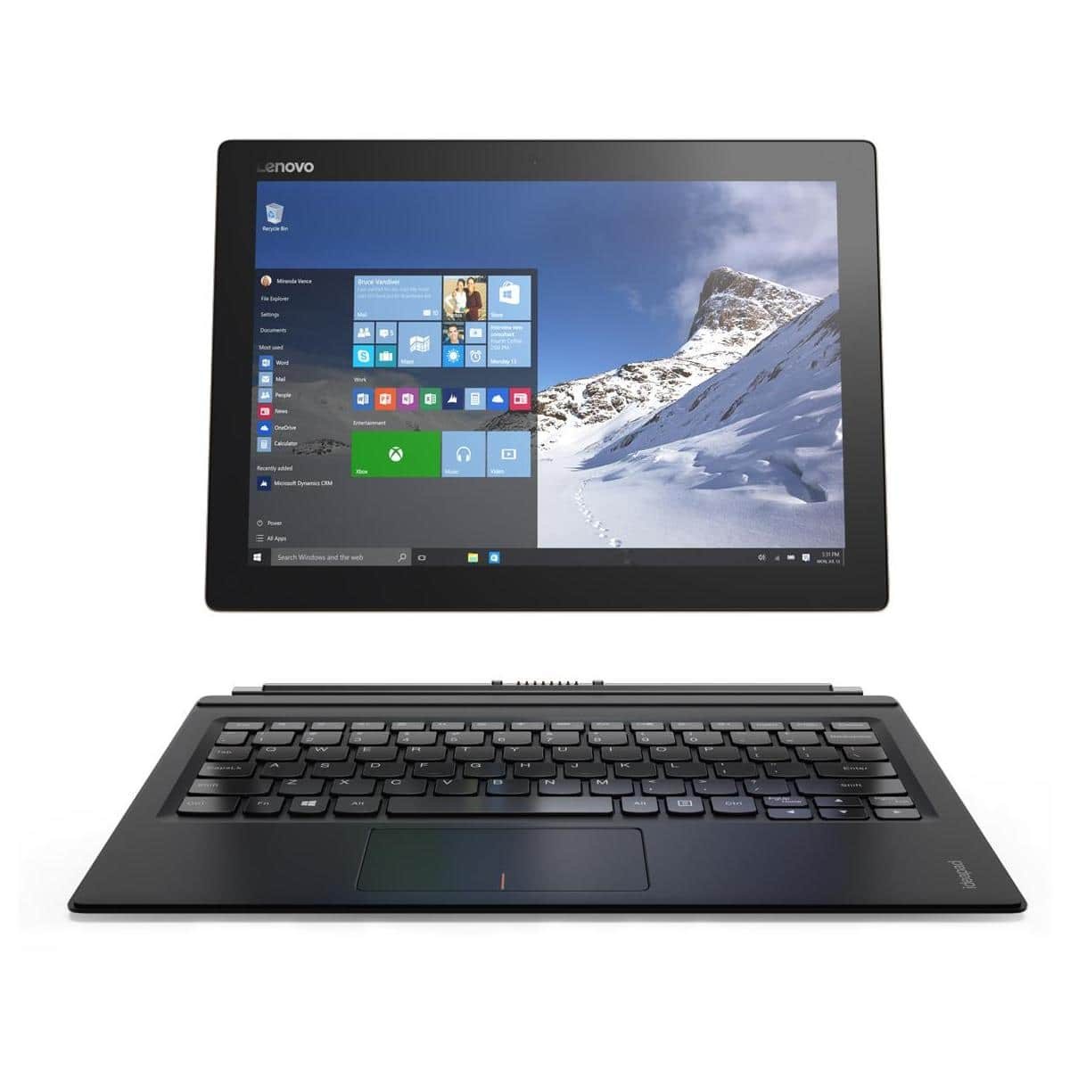 "128GB Lenovo Miix 700 12"" Tablet: Core m5-6Y54, 4GB RAM, Win 10 w/ Keyboard Dock  $499 + Free Shipping"
