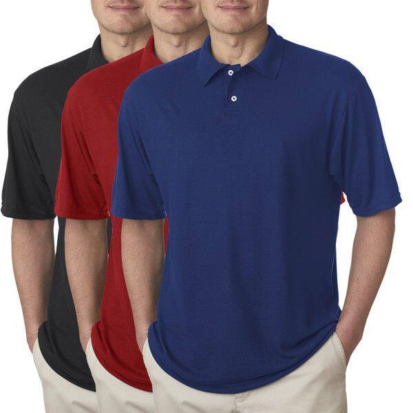 Jerzees Men's Moisture-Wicking Short Sleeve Polo Shirt (Various Colors)  $6 + Free Shipping