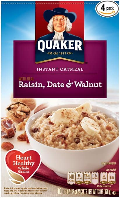 8-Pack of 10-Count Quaker Instant Oatmeal (Various Flavors)  $12.50 + Free Shipping
