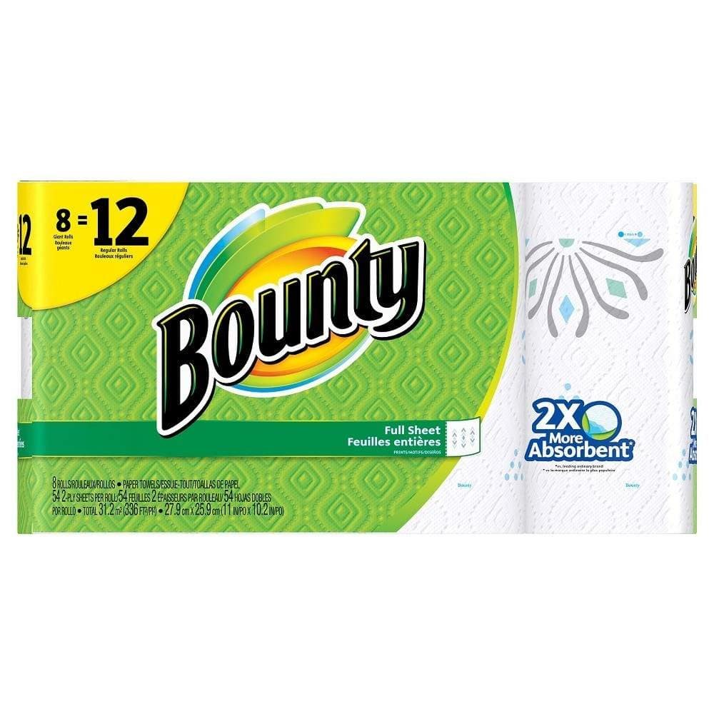 40-Count Bounty Giant Roll Paper Towels + 25oz Seventh Generation Natural Dish Liquid  $35.30 + Free Shipping