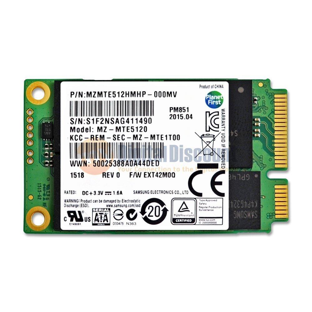 512GB Samsung PM851 50mm mSATA SSD  $100 + Free Shipping