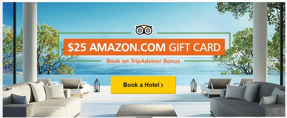 TripAdvisor: Book Hotel between 8/15 and 9/5 ($200 min) & Complete Stay and Review by 10/15 Get $25 Amazon GC
