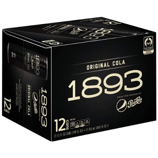 12-Pack Pepsi Cola 1893: Original Cola $14.10 or Ginger Cola  $9.80
