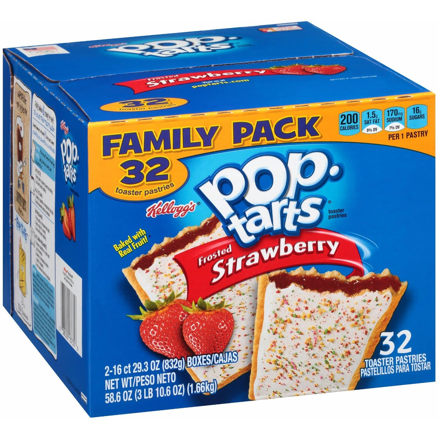 32-Count Pop-Tarts Frosted Strawberry  $4.65 & More + Free Shipping