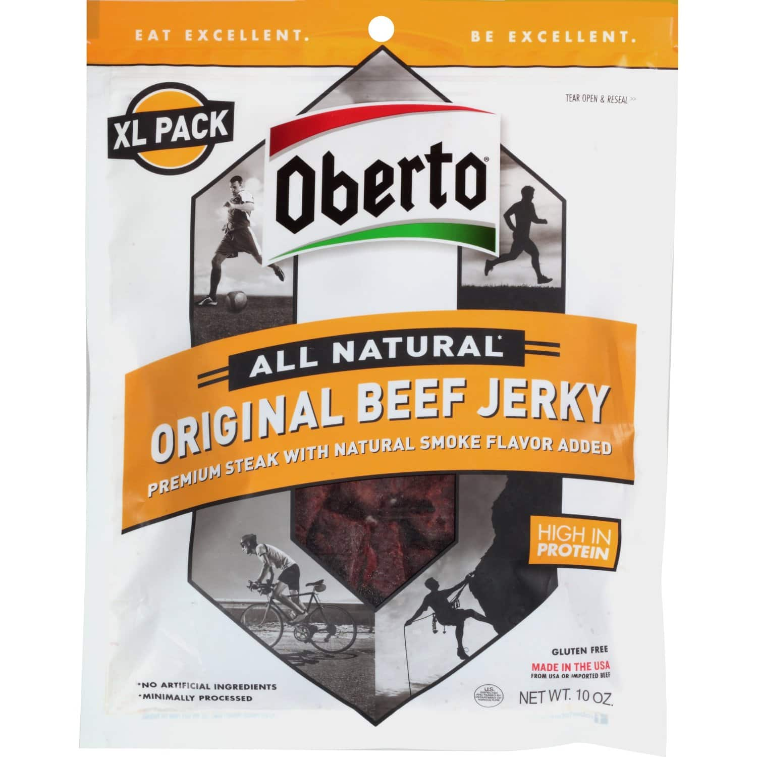 10oz. Oberto All Natural Original Beef Jerky $7.82 + Free Shipping