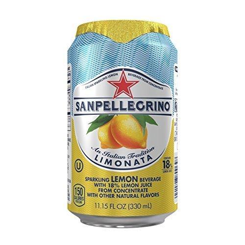 Prime Members: 24-Pack 11.15oz San Pellegrino Sparkling Beverage (Lemon)  $13.90