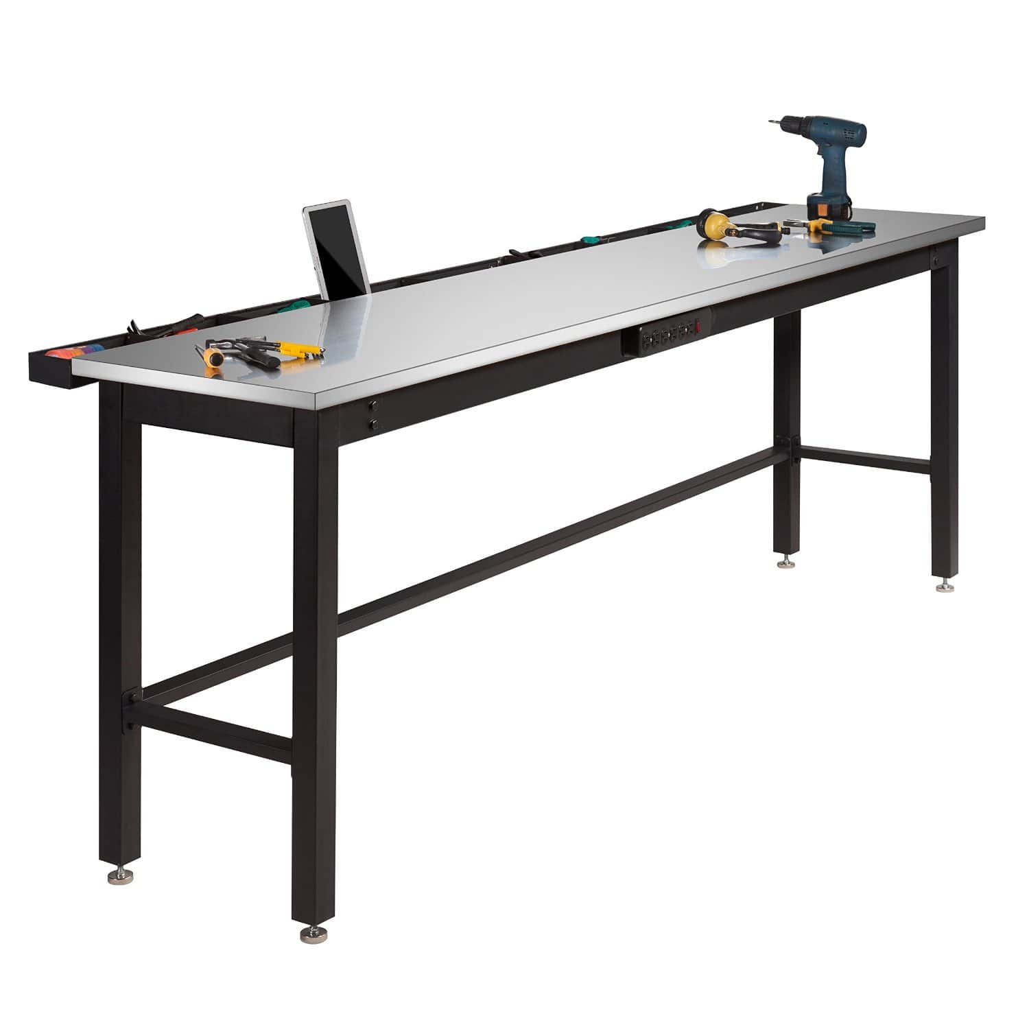 """96"""" NewAge Metal Workbench w/ Stainless Steel or Bamboo Top  $202 + Free Store Pickup"""