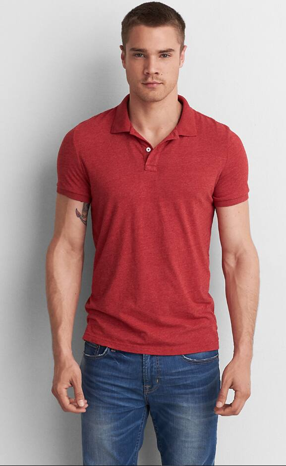 American Eagle: up to 60% off Clearance: Men's Tipped Jersey Polo $10, Tees  from $5 & More