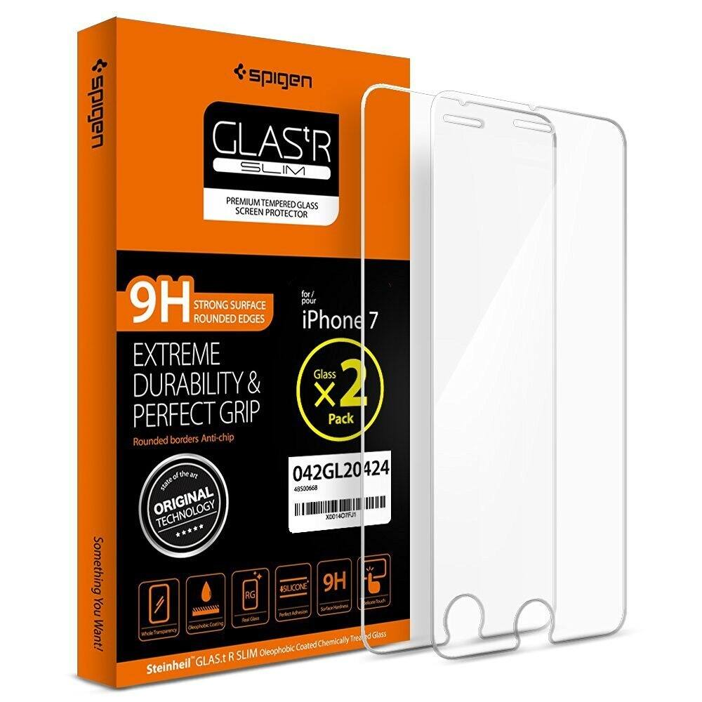 2-Pk Spigen Tempered Glass Screen Protectors for iPhone 7 or 7 Plus (Pre-Order)  $2 + Free Shipping