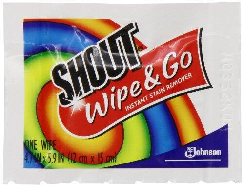 3-Pack of 12-Count Shout Wipe & Go Wipes $1.96 or less + free shipping @ Amazon (prime members)