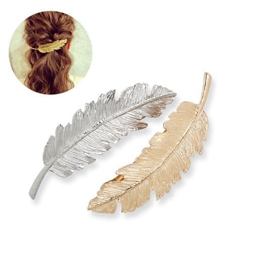 2-Count Leaf Shaped Hair Clip Pin (Gold & Silver)  $1