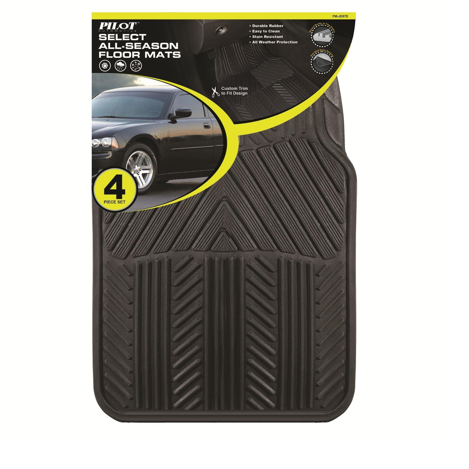 4-Piece Pilot Automotive All Season Rubber Floor Mat Set  $9.99 + Free Store Pickup ~ Sears