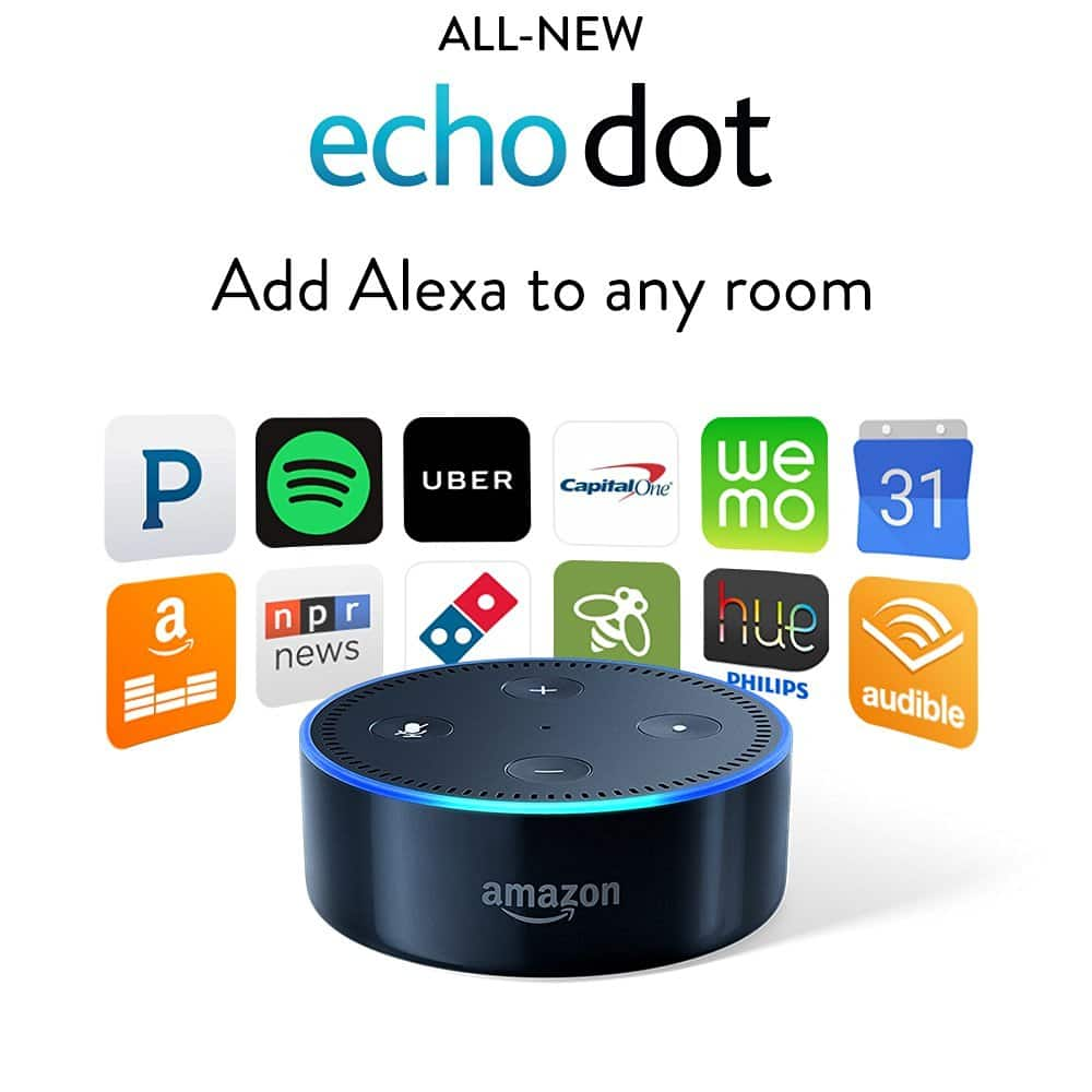 Echo Dot (2nd Generation, Black or White) Pre-Order  $50 + Free Shipping