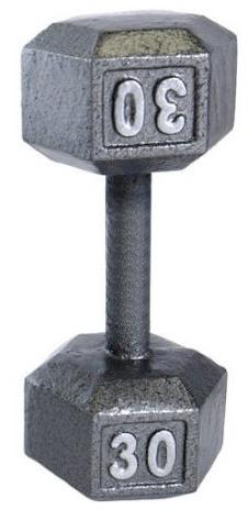 CAP Barbell Cast Iron Hex Dumbbell: 60lb $41.40, 40lb $21, 30lb  $17 & More + Free Store Pickup