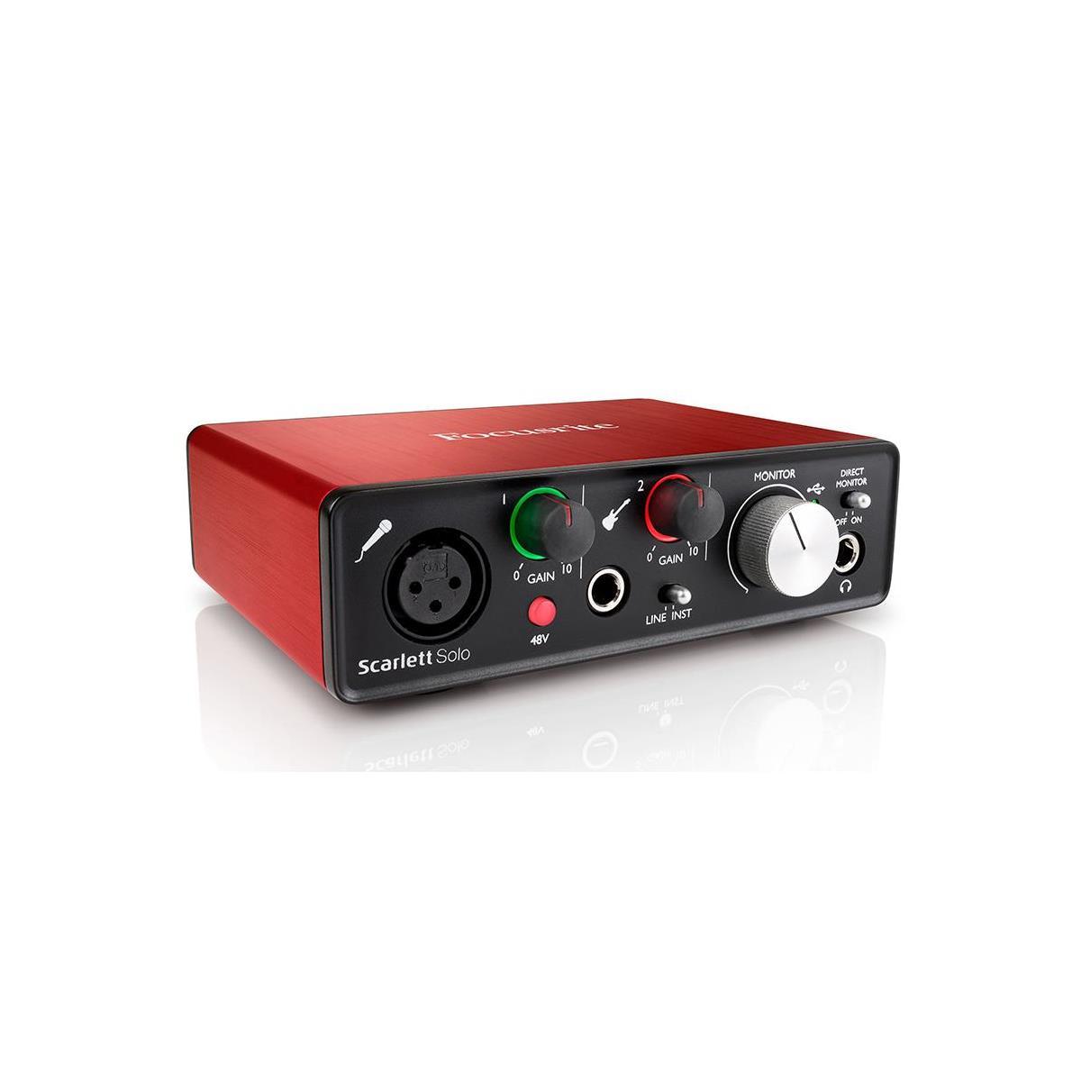 Focusrite Scarlett Solo Audio Interface (2nd Gen)  $75 + Free Shipping