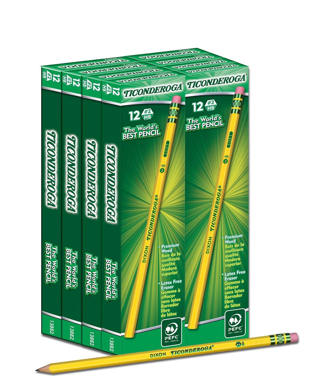 Amazon has Box of 96 Dixon Ticonderoga #2 HB Pencils for $9.49