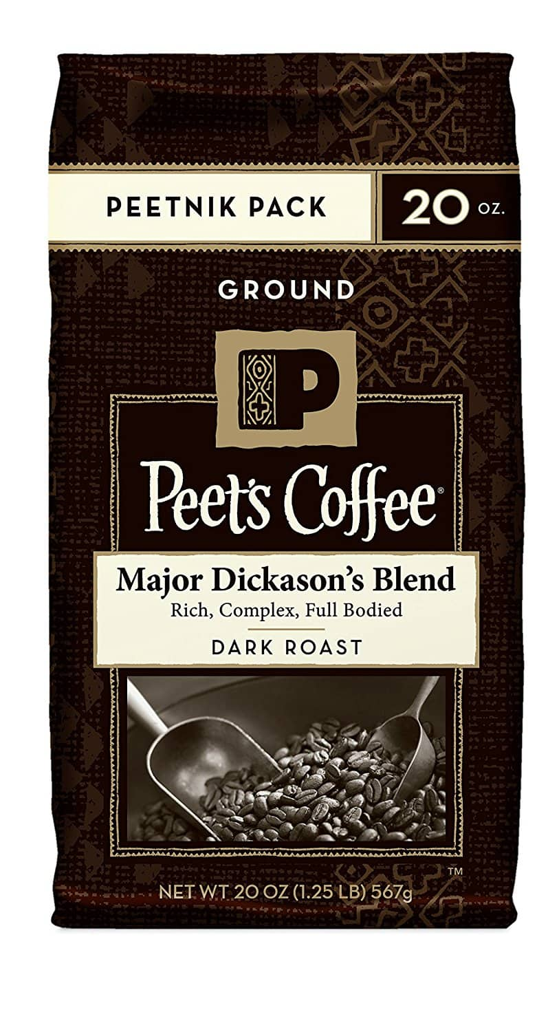 Peet's Coffee - Major Dickason's or French Roast - 20 Ounce 'Peetnik Pack' (Ground) - $7.87 AC & S&S ($6.56 AC & 5 S&S Orders) - Amazon