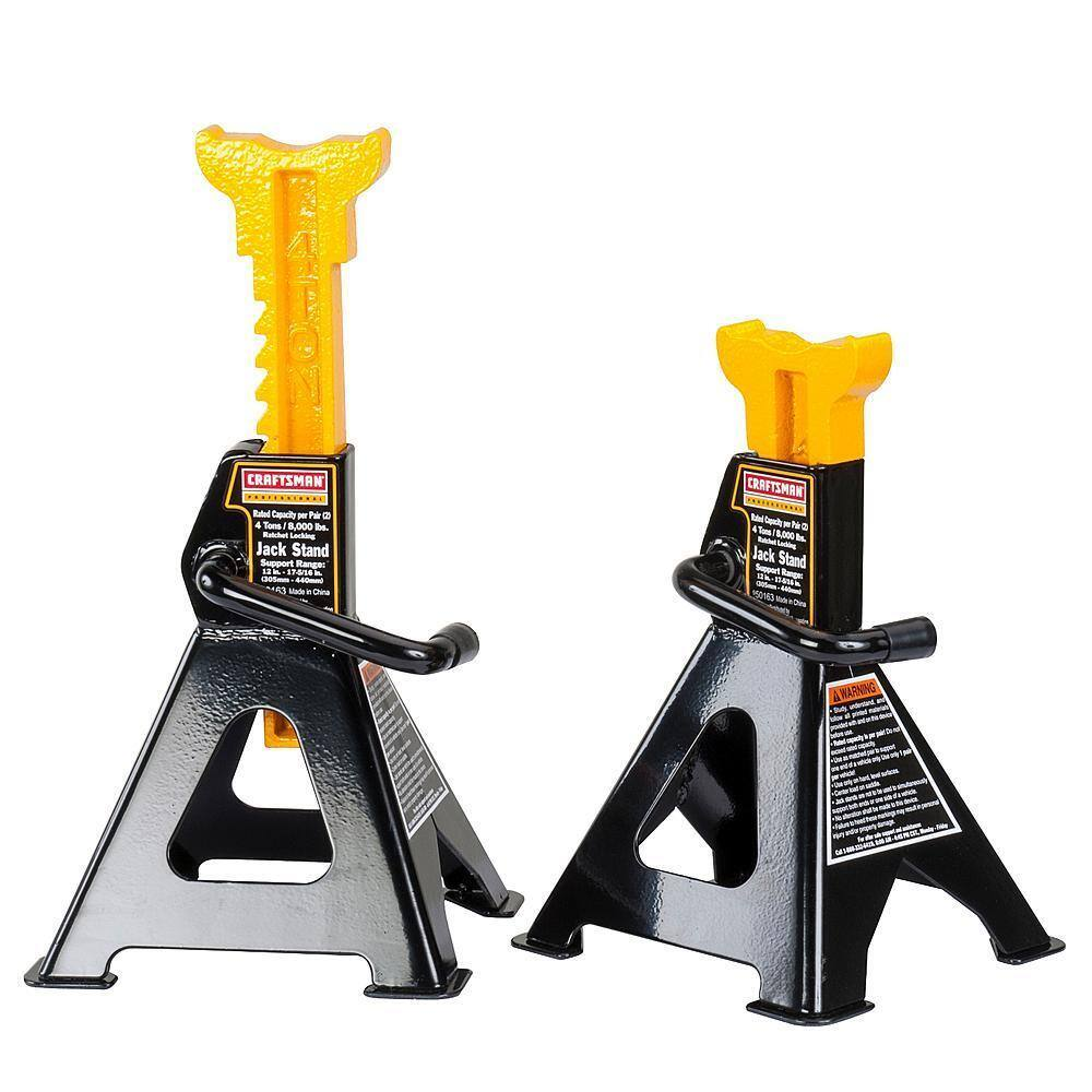 2-Pack of Craftsman Professional 4-Ton Jack Stands $22.99 + Free Store Pickup Sears.com